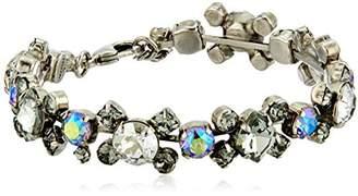 Sorrelli Core Antique Silver Tone Crystal Rock Perfect Harmony Bracelet