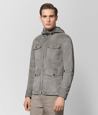 Bottega Veneta DARK CEMENT SUEDE JACKET