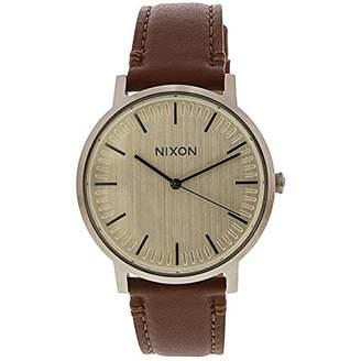 Nixon Men's 'Porter' Quartz Metal and Leather Watch