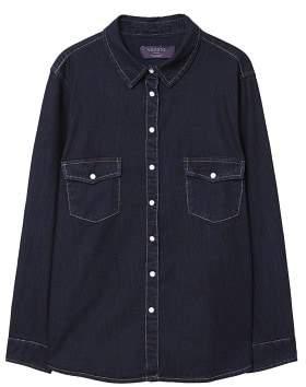 Violeta BY MANGO Dark denim shirt