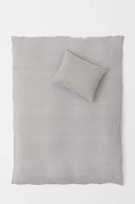 H&M Jersey Duvet Cover Set - Gray