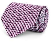 Salvatore Ferragamo Men's Bird-Print Silk Necktie - Purple