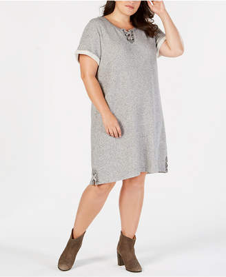 Style&Co. Style & Co Plus Size Lace-Up Swing Dress