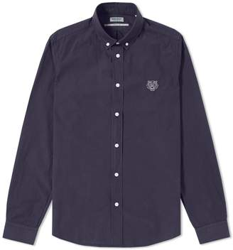 Kenzo Button Down Tiger Poplin Shirt