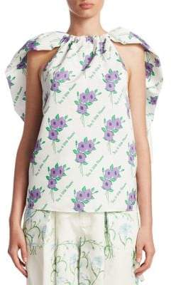Rosie Assoulin Floral Ruffle Top