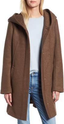 Cole Haan Textured Hooded Coat