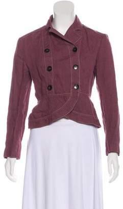 Max Mara Linen Button-Up Jacket