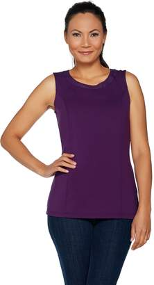 Belle By Kim Gravel Belle by Kim Gravel Knit Tank with Faux Leather Trim