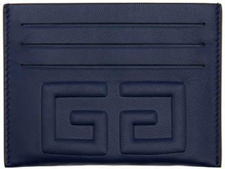 Givenchy Navy Debossed 4G Card Holder
