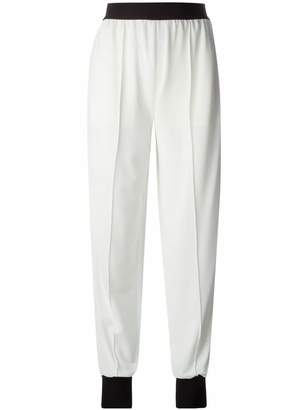 Vionnet contrast tapered trousers