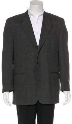 Barneys New York Barney's New York Wool Plaid Blazer