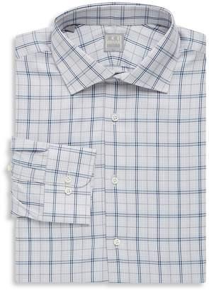Ike Behar Men's Plaid Cotton Button-Down Shirt