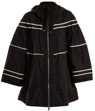 Moncler Lazuli Striped Raincoat - Womens - Black White