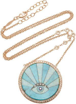 Jacquie Aiche Sunshine Opal Eye Necklace