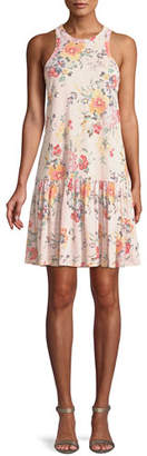 Rebecca Taylor Marlena Sleeveless Floral-Print Jersey Dress