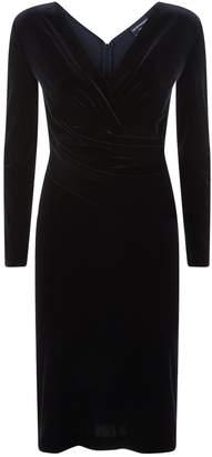 Emporio Armani Velvet Wrap Dress