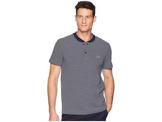 Lacoste Short Sleeve Regular Fit Fine Stripe Henley