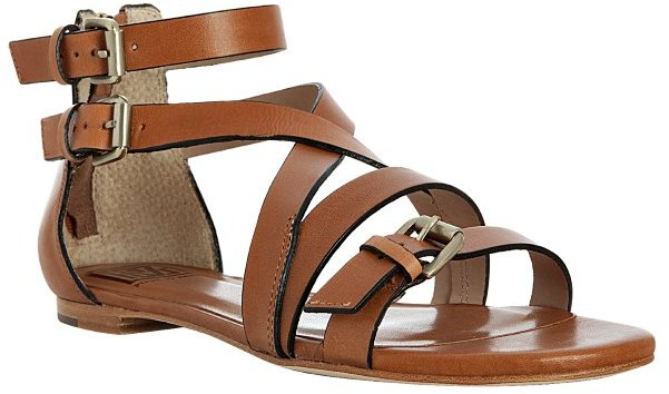 Pour la Victoire luggage leather 'Bryn' buckle detail flat sandals