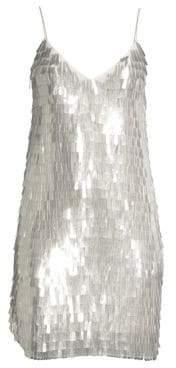 Alice + Olivia Contessa Sequin V-Neck Slip Dress