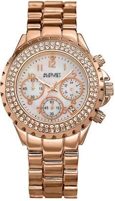 August Steiner Women's Crystal Chronograph Watch