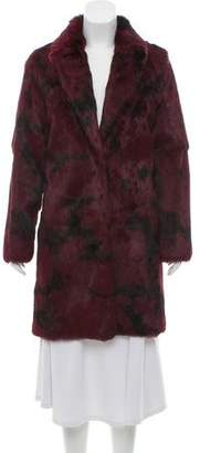 Jocelyn Tie-Dye Fur Coat w/ Tags