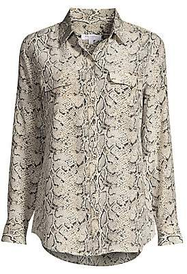 a8a74c697f451 Equipment Women s Python Print Silk Blouse