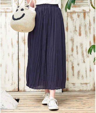 Kobe Lettuce (神戸レタス) - コウベレタス KOBE LETTUCE リネンタッチマキシプリーツスカート
