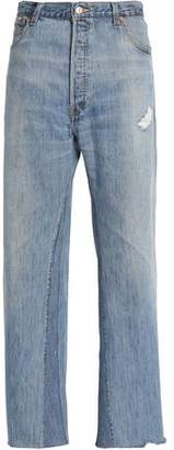 Levi's Re/Done By Distressed High-Rise Wide-Leg Jeans