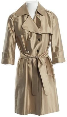 Dolce & Gabbana Gold Silk Trench coats