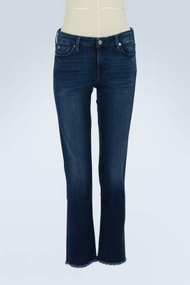 7 For All Mankind Pyper Crop high-waisted raw-hem jeans