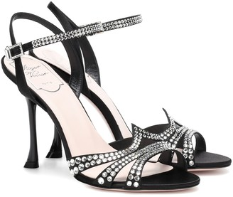 Roger Vivier Hotfix embellished satin sandals