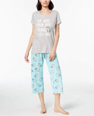 Hue Printed Capri Pajama Set