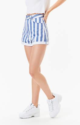 Insight Dylan Roll Candy Stripe Denim Shorts