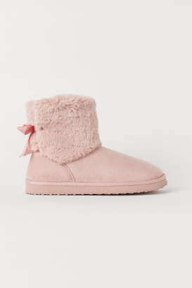 H&M Warm-lined Boots - Pink