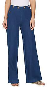 G.I.L.I. got it love it G.I.L.I. Petite Sailor Button Waist Wide LegJeans