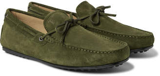 Tod's Gommino Suede Driving Shoes - Men - Green