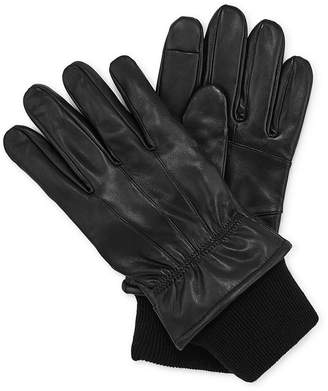 STAFFORD Stafford Thinsulate Leather Gloves with Knit Cuff