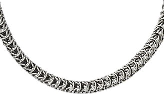 """SPIGA Steel By Design Stainless Steel 22"""" Fancy Square Chain Necklace"""
