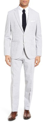 Men's Boss Janon/lenon Trim Fit Seersucker Stretch Cotton Suit $945 thestylecure.com
