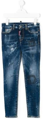 DSQUARED2 paint effect jeans