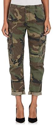 RE/DONE Women's Camouflage Crop Cargo Pants
