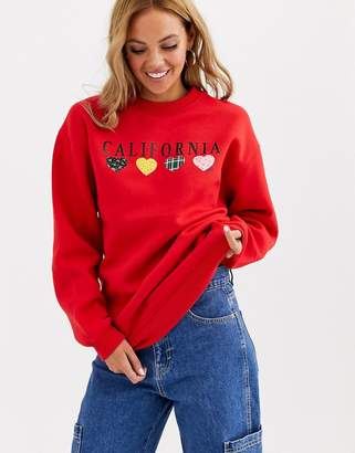 Daisy Street relaxed sweatshirt with vintage america print