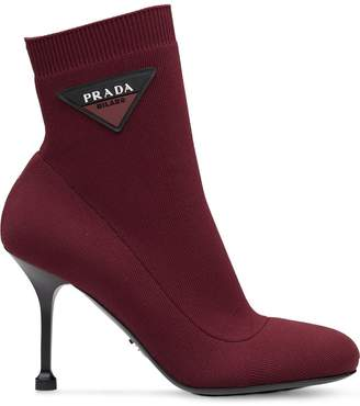 Prada stretch fabric booties