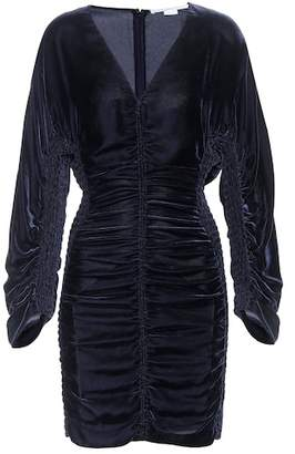 Stella McCartney Ruched velvet minidress
