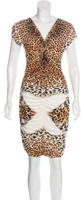 Just Cavalli Short Sleeve Animal Print Dress