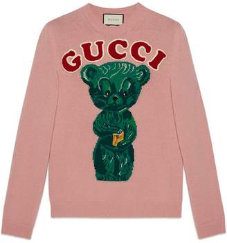 Gucci Wool sweater with teddy bear