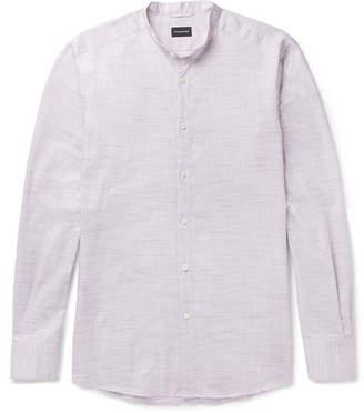 Ermenegildo Zegna Grandad-Collar Cotton Shirt
