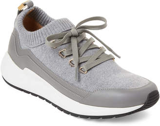 Buscemi Mid Grey Knit Low-Top Sneakers