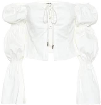 Cult Gaia Claire stretch-cotton top
