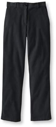 L.L. Bean L.L.Bean Stretch Bayside Corduroys, Classic Fit Straight-Leg Plain-Front Comfort Waist